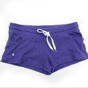 Hurley Juniors Women's Short Shorts Purple Striped